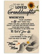 Meaningful Messages For Beloved Granddaughter Vertical Poster