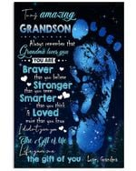Life Gave Me The Gift Of You Lovely Message For Amazing Grandsons Vertical Poster