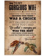 Falling In Love With You I Had No Control Great Gift From Husband To Wife Vertical Poster
