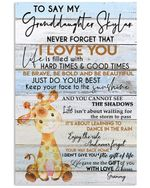 Never Forget That I Love You Gifts For Granddaughters Vertical Poster