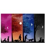 Dog And Friend Forever Gifts For Dog Lovers Horizontal Poster