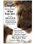 Never Forget Who You Are Lovely Message Gifts For Daughter Vertical Poster
