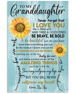 Never Forget That I Love You Gift For Granddaughter From Yia Yia Vertical Poster