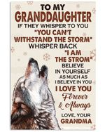 I Love You Forever And Always Lovely Message From Grandma For Granddaughters Vertical Poster