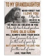 Lion Pepe Hopes Granddaughter To Believe In Herself Vertical Poster