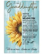 Never Forget That We Love You Quote Gift For Granddaughter Vertical Poster