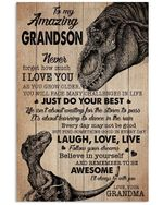 To My Amazing Grandson Believe In Yourself Gifts From Grandma Vertical Poster