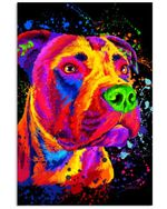 Pitbull Water Color Gifts For Dog Lovers Vertical Poster