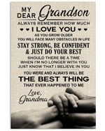 Always Remember How Much I Love You Quote Gift For Grandson Vertical Poster