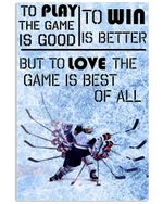 Game Is Best Of All Gifts For Hockey Lovers Vertical Poster