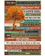 Never Forget That I Love You Gift For Granddaughter From Grandmother Vertical Poster