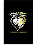I Wear Yellow For My Auntie Spina Bifida Awareness Vertical Poster