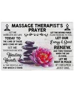 Massage Therapist's Prayer Custom Design Gift For Friends Horizontal Poster