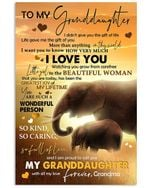 Elephant Lovely Message From Grandma For Granddaughters Vertical Poster