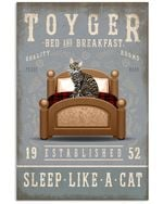 Toyger Sleep Like A Cat Gifts For Cat Lovers Vertical Poster