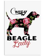 Beagle Crazy Lady Trending Meaningful Gifts For Dog Lovers Vertical Poster