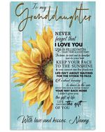 Never Forget That I Love You Gift For Granddaughter From Nanny Vertical Poster