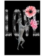 Greyhound Love Funny Design Trending Gift For Greyhound Lovers Vertical Poster