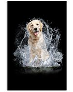 Golden With Water Line Lovely Gift For Golden Lovers Vertical Poster