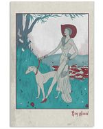 Greyhound And Lady Gifts For Dog Lovers Vertical Poster