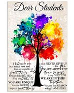 Never Give Up Colorful Tree Design Gifts Students Vertical Poster