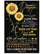 This Old Sunflower Will Always Have Your Back Lovely Message Gifts For Daughters Vertical Poster