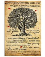 The More Are Grew The More We Flourished Lovely Message Gifts For Grandparents Vertical Poster