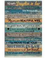 Mother In Law Gifts For Daughter In Law I Hope You Know How Much You Mean To Me Vertical Poster