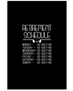 Golf Retirement Schedule Custom Design For Sport Lovers Vertical Poster