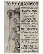 Never Forget That I Love You Gift For Grandson From Nanoo Vertical Poster