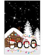 Penguin Christmas Funny Gift Vertical Poster