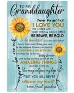 Never Forget That I Love You Gift For Granddaughter From Great Grandma Vertical Poster
