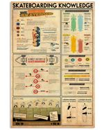 Skateboarding Knowledge Gifts For Skateboarding Lovers Vertical Poster