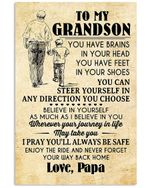 I Pray You'll Always Be Safe Lovely Message From Papa Gifts For Grandson Vertical Poster
