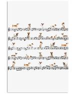 Jack Russell Music Custom Design For Dog Lovers Vertical Poster