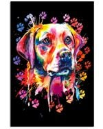 Labrador Paw Color Graphic Gift For Labrador Lovers Vertical Poster