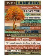 To My Laniebug Never Forget That I Love You Gifts From Grammie Vertical Poster