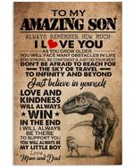 To Our Amazing Son Love And Kindness Will Always Win Gifts From Mum And Dad Vertical Poster