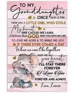 I Love You Forever And Always Quote Gift For Granddaughter From Lama Vertical Poster