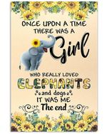 Once Upon A Time There Was A Girl It Was Me The End Message Gifts Vertical Poster