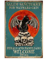 Salem Sanctuary For Wayward Cats Ferals And Familiars Welcome Vertical Poster