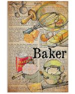 Baker Definition Funny Gift For Bakers Vertical Poster