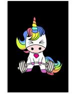 Lovely Unicorn Custom Design Trending For Weightlifting Lovers Vertical Poster