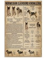 Norwegian Elkhound Knowledge Special Custom Design For Dog Lovers Vertical Poster