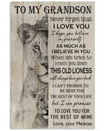 Never Forget That I Love You Quote Gift For Grandson From Memaw Vertical Poster