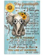 Never Forget That I Love You Quote Gift For Granddaughter From Granny Vertical Poster