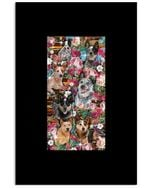 Lovely Phone Case With Flowers Gift For Heeler Lovers Vertical Poster