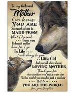 Wolfs Daughter Gifts For Mother I Am Because You Are So Much Of Me Vertical Poster