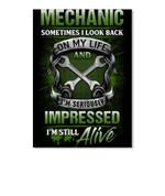 Mechanic Somtimes I Look Back On My Life Special Custom Design Peel & Stick Poster