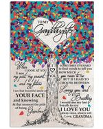 Colorful Heart Canopy Of Leaves With Meaningful Words For Granddaughter Vertical Poster